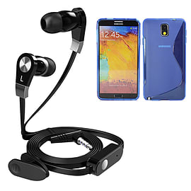 iSOUL Earphone With Microphone Case For Samsung Galaxy Note 4 N9100 - Blue Mobile phones