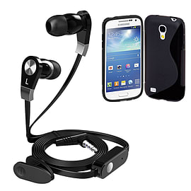 iSOUL Earphone With Microphone Case For Samsung Galaxy S4 Mini - Black Mobile phones