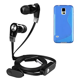 iSOUL Earphone With Microphone Case For Samsung Galaxy S5 - Blue Mobile phones