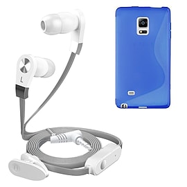 iSOUL Silver In-Ear Stereo Earphone Flat Cable Headphone Samsung Galaxy Note Edge N9150 - Blue Mobile phones