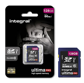 Integral 128GB ULTIMAPRO SDXC Class 10 UHS I U1 Memory Card Multi Format and Universal