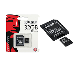 Kingston 32GB MicroSDHC Class 10 Flash Memory Card - With SD Adapter. Multi Format and Universal