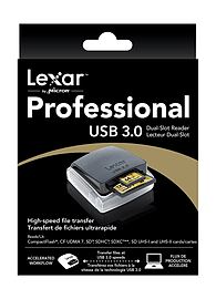 Lexar Professional UDMA Dual Slot CF & SD 400 Card Reader. Multi Format and Universal
