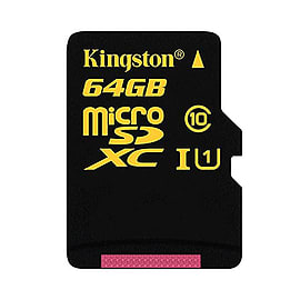 Kingston 64GB microSDXC Class 10 UHS-I U1 Memory Card - inc SD Adapter. SDCA10/64GB Multi Format and Universal
