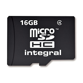 Integral 16GB MicroSDHC Class 4 Card - No Adapters. Multi Format and Universal