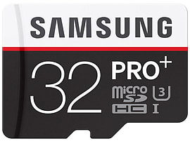 Samsung 32GB PRO PLUS 4K Micro SDHC Class 10 UHS-U3 R95/W90 Flash Card + Adapter. Multi Format and Universal