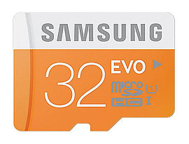 Samsung 32GB EVO Micro SDHC Class 10 UHS-1Grade 1; Flash Card. Multi Format and Universal