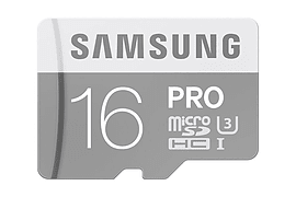 Samsung 16GB PRO Micro SDHC Memory Card - Class 10 - UHS-I U3 - Up To 90MB/s. Multi Format and Universal