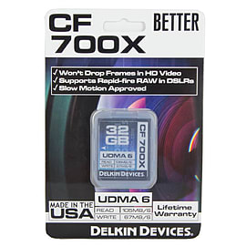Delkin 32GB Fast 700X speed - UDMA 6 Compact Flash Card. DDCF700-32GB Multi Format and Universal