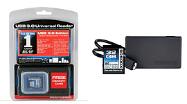Delkin 32GB SDHC Memory Card with USB 3.0 Universal Card Reader. DDSD600-32R3 Multi Format and Universal