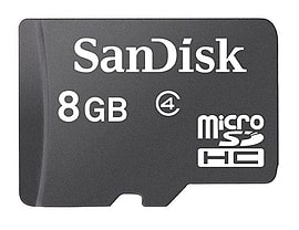 SanDisk 8GB Class 4 MicroSDHC Card (card Only) Multi Format and Universal