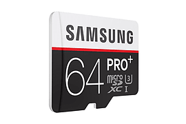 Samsung 64GB PRO PLUS 4K Micro SDHC Class 10 UHS-U3 R95/W90 Flash Card + Adapter. Multi Format and Universal