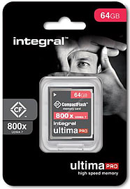 Integral 64GB 800X Spped Ultima-Pro UDMA 7 High Speed Compact Flash Card. Multi Format and Universal