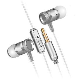Reytid In-Ear Earphones Headphones, HD Sound, Heavy DEEP Bass w/ Metal MIC for iPhone/Android Multi Format and Universal