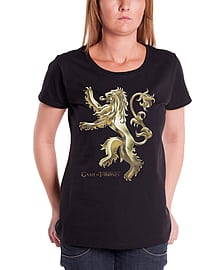 Game of Thrones T Shirt Womens Chrome Lannister logo Official New Skinny FitSize: 8 Clothing