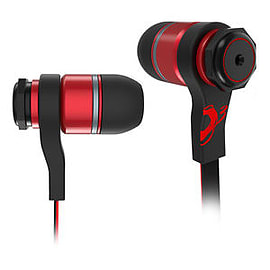 OZONE TriFX In-ear Pro Gaming Earbud with Microphone, Red Multi Format and Universal