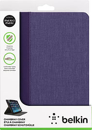 Belkin Chambray Purple Cover Case with Stand & Auto On/Off For iPad Air & Air 2 Tablet