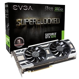 EVGA Nvidia GeForce GTX 1070 SC Gaming 8 GB ACX 3.0 Graphic Card PC