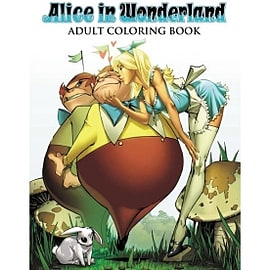 Alice In Wonderland Adult Colouring Book Books