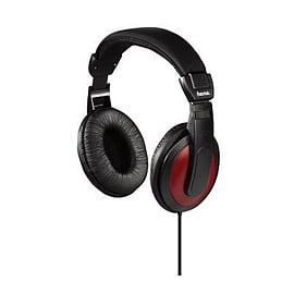 00135618 Hama Over Ear Headphones Black / Red 2m Cord - 00135618 (Headsets Microphones > Headphones Multi Format and Universal