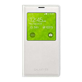 Official Samsung Galaxy S5 S View Cover - Wireless (White) Mobile phones
