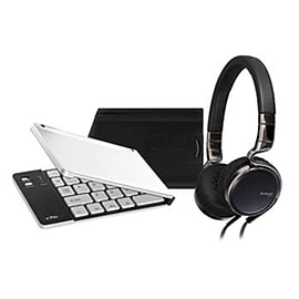 HA-SR75S-B+PKBBK-1 JVC HA-SR75S Esnsy On-Ear Headphone Kit inc Bluetooth Keyboard - Black - HA-SR75S Multi Format and Universal