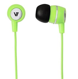 HA110-GRN-12EB V7 AUDIO EARBUDS INLINE MIC GRN 3.5MM PLUG FOR MOBILE DEVICES IN - HA110-GRN-12EB Multi Format and Universal