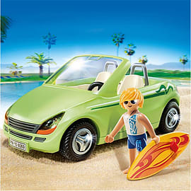 Playmobil Summer Fun Surfer with Convertible Blocks and Bricks