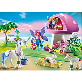 Playmobil Fairies with Toadstool House Blocks and Bricks