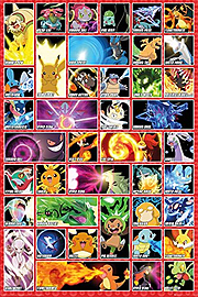 Pokemon Moves Maxi Poster 61x91.5 cm Posters