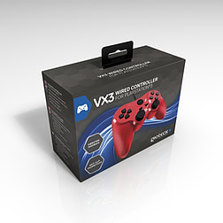 Gioteck VX-3 Wired Controller (PS3) - Red PS3