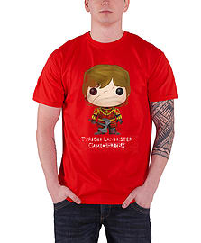 Game Of Thrones T Shirt Tyrion Lannister Bling Art new Official Mens Red Size: M Clothing