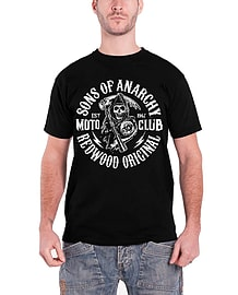 Sons Of Anarchy Moto Reaper Official Mens New Black T ShirtSize: S Clothing