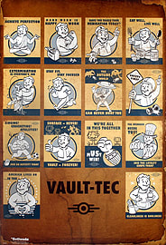 Fallout 4 Vault Tec Compilation Poster 61x91.5cm Posters
