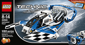 LEGO Technic Hydroplane Racer 42045 Building Kit screen shot 1