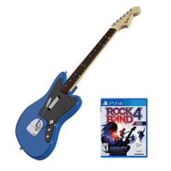 Rock Band Rivals Fender Jaguar Guitar Controller Bundle for PlayStation 4 PS4