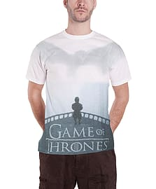 Game Of Thrones T Shirt Drogon & Tyrion new Official Mens slim fit sub dye Size: Small Clothing