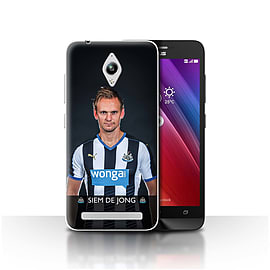 Newcastle United FC Case/Cover for Asus Zenfone Go ZC500TG/De Jong Design/NUFC Football Player 15/16 Mobile phones