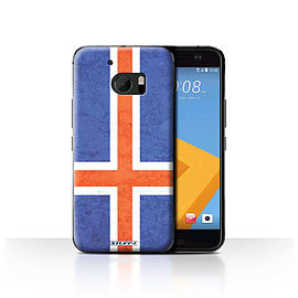 STUFF4 Case/Cover for HTC 10/One M10 (2016) / Iceland/Icelandic Design / Flags Collection Mobile phones