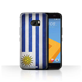 STUFF4 Case/Cover for HTC 10/One M10 (2016) / Uruguay/Uruguayan Design / Flags Collection Mobile phones