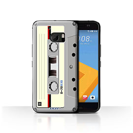 STUFF4 Case/Cover for HTC 10/One M10 (2016) / Compact Cassette Tape Design / Retro Tech Collection Mobile phones