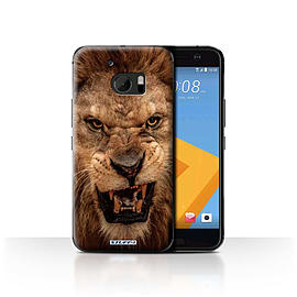 STUFF4 Case/Cover for HTC 10/One M10 (2016) / Lion Design / Wildlife Animals Collection Mobile phones