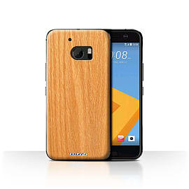 STUFF4 Case/Cover for HTC 10/One M10 (2016) / Pine Design / Wood Grain Effect/Pattern Collection Mobile phones