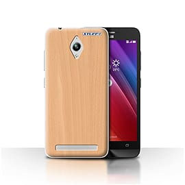 STUFF4 Case/Cover for Asus Zenfone Go ZC500TG / Beech Design / Wood Grain Effect/Pattern Collection Mobile phones