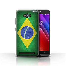 STUFF4 Case/Cover for Asus Zenfone Max ZC550KL / Brazil/Brazilian Design / Flags Collection Mobile phones