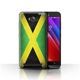 STUFF4 Case/Cover for Asus Zenfone Max ZC550KL / Jamaica/Jamaican Design / Flags Collection Mobile phones