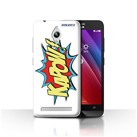 STUFF4 Case/Cover for Asus Zenfone Go ZC500TG / Kapow! Design / Comics/Cartoon Words Collection Mobile phones