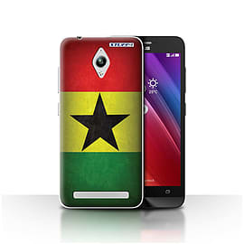 STUFF4 Case/Cover for Asus Zenfone Go ZC500TG / Ghana/Ghanaian Design / Flags Collection Mobile phones