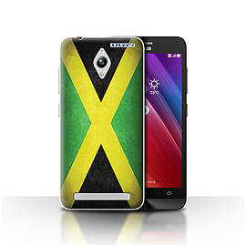 STUFF4 Case/Cover for Asus Zenfone Go ZC500TG / Jamaica/Jamaican Design / Flags Collection Mobile phones