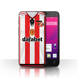 Sunderland AFC Case/Cover for Alcatel OneTouch Pixi 3 4/Footballer Design/SAFC Home Shirt/Kit 15/16 Mobile phones